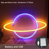 LED Neon Sign Light SMD2835 Indoor Lamp Night Planet Space Mixed Color For Lead Holiday Lighting Xmas Party Wedding Table Decorations EUB Hotel Wall Lamps