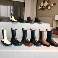 Mujeres de alta calidad para hombres diseñador botines botines de cuero martin chaelsea bota moda antideslizante ola de color caucho batalla suela zapatos de plataforma tamaño 34-44