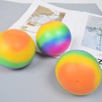 Rainbow Vent Ball Bambini Adulti Squillo Strizza Spremere Gomma Stressball Slow Rebound Impastatura Ansia Lavoro Diritto Stress Sollievo Autismo Fidget Giocattoli H33Wyj2