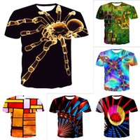 Summer Mens T Shirt Men 3D Magic Printing Graphic Tshirts Fashion Casual Round Neck T-shirt Male Street Style Hiphop Tees Good Quality Tops