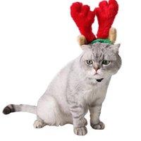 Костюмы кошек Регулируемые домашние головы голова головные уборные вечеринки аксессуары для кошек олень головные уборные кабины рождественские anta шляпы оленей