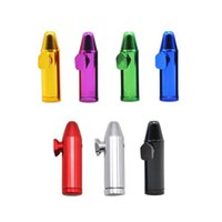 Mini Color metal aluminum alloy Smoking pipes bullet type snuff bottle pipe cigarette accessories