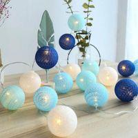 Qyjsd Garland Light String String Ball Ball LED per Natale Capodanno Capodanno Letto per neonati Fata Wedding Party Lights Decorazione indoor