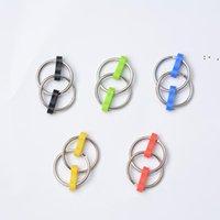 Push IT Key Ring Zappeln Spinner Gyro Hand Metall Spielzeug Finger Keyring Kette Handsacker Spielzeug für Dekompression Angst 5 Farben OWF9985