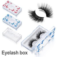 False Eyelashes 1PC Eyelash Packaging Box With Tray Butterfly Pattern Lashes Boxes Empty Package Case10~25MM Rectangle