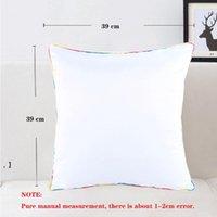 40X40cm Sublimation DIY Pillow Case Heat Transfer Printing Pillowcase Cushion Polyester Pillowslip Free Ship NHD7341
