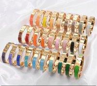 الأزياء والمجوهرات عالية quatity h مشبك سيدة الاسترليني الفضة الإسورة الرجال أساور الذهب مصمم الفاخرة مجوهرات المرأة 699608491 12 ملليمتر سوار والمربع الأصلي