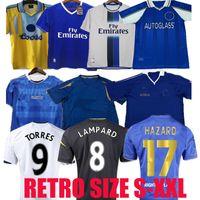 11 12 13 Peligro Retro Jersey Jersey Lampard Torres Drogba 96 97 98 99 Hogar de la tercera camiseta Oscar Mata Hughes 03 05 06 07 08 Cole Zola Vialli
