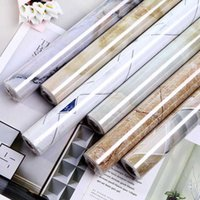 """Fast shipping 24""""x3M / 5M / 10M kitchen PVC wall stickers marble countertop stickers bathroom self-adhesive waterproof wallpaper Q0723"""