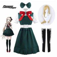 Anime Danganronpa Cosplay Sonia Nevermind COS Kostüm Elbise Üniforma Peruk Cadılar Bayramı Partisi Cosplay Kostüm Suit + Peruk Q0821