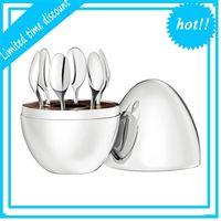 Muebles para el hogar Trendy Christofle París estado de ánimo Kit de café Claquinaje de acero inoxidable Huevo Cuchara de té