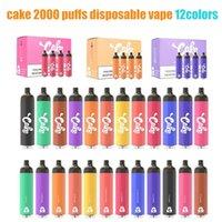 Tek Kullanımlık Vape 2000 Puffs Artı Kek Elektronik Sigaralar Delta 8 1250 mAh Pil 6.5ml Kapasiteli 12 Renkler Air Bar Max Float Bang XXL