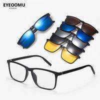 Солнцезащитные очки 5 в 1 Магнитный клип на поляризованных мужчинах Женщины Пользовательские рецептурные Очки Очки Ночное видение Солнцезащитные Очки Гафас де Соль