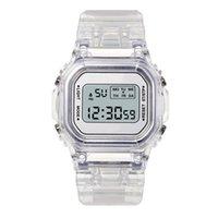 Designer Luxury marca relógios ashion homens mulheres es dolor casual transparente Digital Digital Amante do Amante Relógio Crianças Feminina do Pulso da Criança