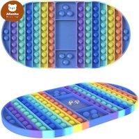 55% de rabais sur la décompression des échelles POPS TOYS poussez le stress arc-en-ciel Reliez-vous Fidget jouet Autisme Besoins spéciaux Sensory Cadeaux pour Kids Party Game Ewa