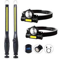 Professionale 600LM COB LED Torcia di emergenza Torcia ricaricabile Luce di lavoro a 360 ° Luce di ispezione Lampada da campeggio portatile
