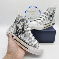 Top Quality Classic Canvas Man Shoes Casual Scarpe da donna Sneaker Sneakers Aspetti in pelle Lace Up Bianco e nero con scatola