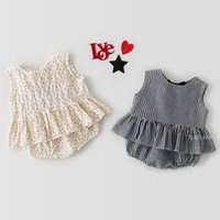 ZHBB Quality INS Korean Australia Baby Girls Clothing Sets Summer Plaid Sleeveless Tees with Shorts 2pieces Infant Toddler Outfits