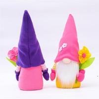 Flower Gnome Pasqua Gnomi Gnomi Gnomi Regalo Decorazione Domestica Cute Creative Doll Doll Festa Festival Decors DHD5280