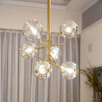 Pendant Lamps Lamp Designer Chandelier Gold Glass Bubble Dining Room Kitchen Restaurant Sphere Hanging Light Luster