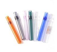 Espessura pyrex og tubos de vidro 4inch um hitter tubulações steamroller filtros fumar acessórios de cachimbo de água para tabaco Erva seca Burner Dab
