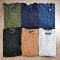 """Новый мужской шерстяной свитер дизайнерская куртка трикотажные капюшоны сплошной цвет звезды мода толстовка женщин вскользь теплый """""""" Ральф """""""" """"Лорен"""""""
