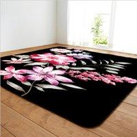 Carpets Rectangles Rose Flower Print Carpet Applicable Home Living Room Bedroom El Other High-end Decoration Rug Kitchen Non-slip Mat