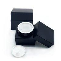 Matte Black Gel Nagellack Gläser 5 ml Quadratisch Acrylcreme Flasche leer 5g Kosmetikglas für lackierte Kleber Pulver HWD8627