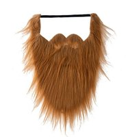 Costume da festa di Halloween, maschera per barba falsa, parrucca di gioco, mento nero, forniture per feste.