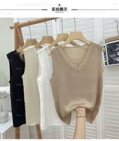 Women's Tanks & Camis suspenders sexy inside and outside wear V-neck professional sleeveless chiffon loose