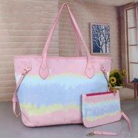 2021 Multicolor Zweiteilig Set Neue Mode Luxus Lässige Handtaschen Umhängetasche Klassische Graffiti Klassische Lady Tasche Große Kapazität