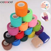 Kleurrijke sport zelfklevende elastische bandage Coyoco wrap tape 4,5 m elastoplast voor knie-ondersteuning pads vinger enkel palmschouder