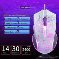 Free Drop Shipping Mechanical Wired Gaming Mouse 6 Button Macro Programming Variable Breathing Light USB Gamer PC Mice Computer Mouse