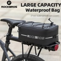 ROCKBROS Bicycle Bags Waterproof 4L Cycling Travel Trunk Bag Seat Saddle Pannier MTB Electric Bike Reflective Luggage Carrier