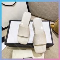 Kadın 5.5 cm Topuklu Sandalet Luxurys Tasarımcılar Kadın Sandalet Slaytlar Plaj Kaydırıcılar Sandalias Takozlar Sandale Ayakkabı Lüks Slide des Sandales Çevirme
