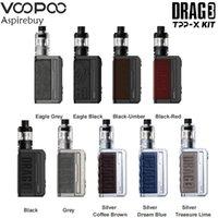 Voopoo DRAG 3 TPP-X Kit 177W Box MOD by Dual 18650 Battery Vape 5.5ml TPP X Pod Tank Cartridge Fit TPP-DM2 TPP-DM3 Electronic Cigarette Vaporizer Authentic