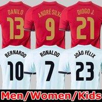20 21 le Portugal  maillots de football RONALDO JOAO FELIX 2021 DIOGO ANDRE SILVA Bernardo FERNANDES Camisa de futebol hommes kit enfants maillots de football PIZZI FIGO RUI COSTA
