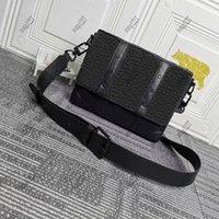 Luxurys Designers Bags L 457 Небольшой прямоугольный багажник Postman Bag 27 Съемный и регулируемый ремешок для комфортного переноски
