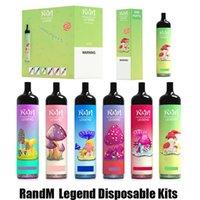 정통 Randm Legend 전자 담배 일회용 포드 디바이스 키트 5000 퍼프 12ml 프리 쿼리 포드 카트리지 950mAh 스틱 vape 펜 rm 증기 100 % 정품