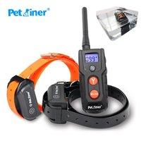 Тренировочный воротник для собак для собак Аккумуляторная водонепроницаемая 330YD удаленной собаки Ударная воротник с звуковым сигналом, вибрацией и ударом Ecollar L0220