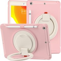 Full body protection tablet case with big grip adjust kickstand & pencil holder for iPad 10.2 inch rugged back cover