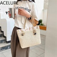 Cross Body ACELURE Solid Color Hasp Casual Totes For Women 2021 Fashion Shoulder Crossbody Bags Ladies Shopping Handbags High Capacity