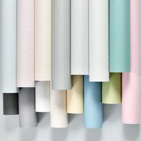 Wallpapers 10m Waterproof Matte Self Adhesive Wallpaper Removable Solid Color Wall Sticker Home Decor Bedroom Furniture Contact Paper