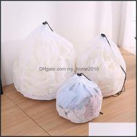 Laundry Racks Housekee Organization Home & Gardenlaundry Bags 1Pcs Bag Thicken Fine Lines Dstring Clothing Care Wash Mesh Bra Underwear Port