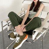 Women's Jeans 322 White Harem Women Summer Thin Trendy High Waist Casual Elastic Loose Daily Office Korean Denim Washed Pants 2021