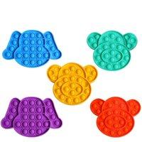 أطفال دفع فقاعة تململ حساسة اللعب الإجهاد الجدة اللعب الكلب القرد الكرتون الشكل تململ لعبة القلق الإغاثة h39ih43