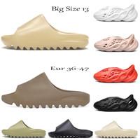 كبيرة الحجم 13 رغوة عداء منصة شبشب صندل أحذية الراتنج الثلاثي الأسود الأبيض العظام الأرض براون رجل المرأة مصمم الشرائح الصنادل