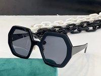 Gafas de sol de verano para hombres y mujeres estilo de cadena especial 0772 anti-ultravioleta placa retro tablón marco completo de fotografías de moda caja aleatoria