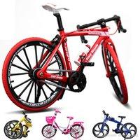Diecast Model Jouet de vélo, Vélo de montagne pliable, Vélo Racing Road, Ville City Girl Pink Vélo, Ornement, Pour Kid Anniversaire Cadeaux, Récupérer, 2-1