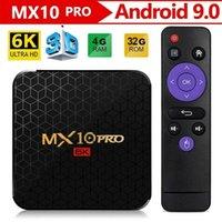 Android 9.0 TV Box MX10 Pro 4GB 64GB 6K مشغل فيديو Allwinner H6 رباعية النواة USB 3.0